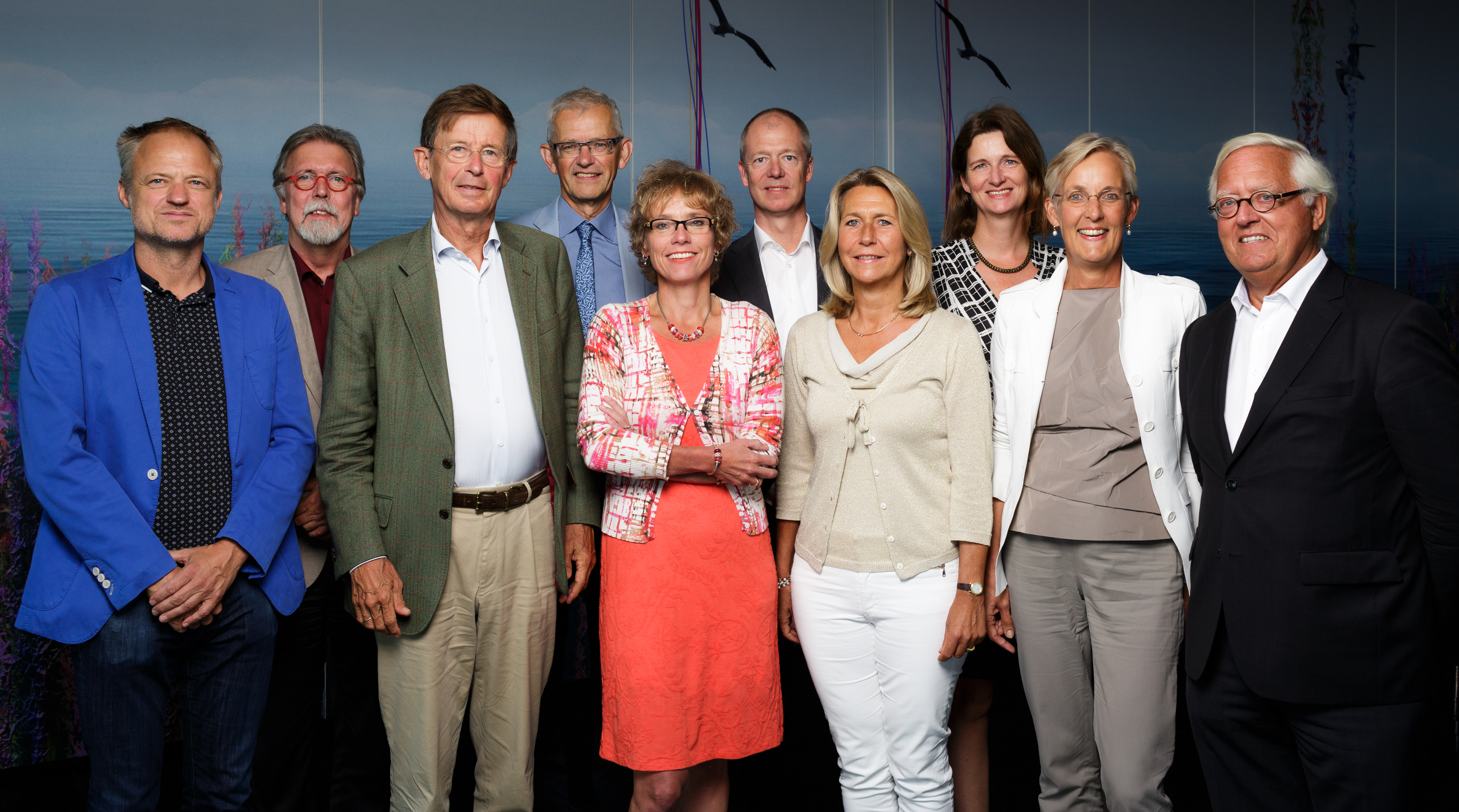Groepsfoto van de Raad voor de leefomgeving en infrastructuctuur