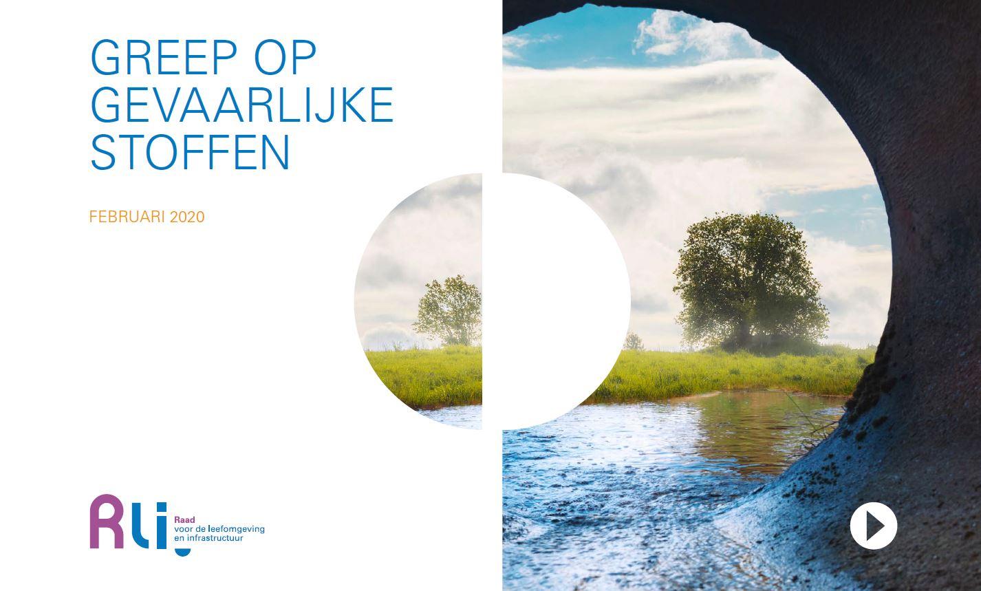 kaft van het advies met titel en foto van afvalwaterafvoerpijp