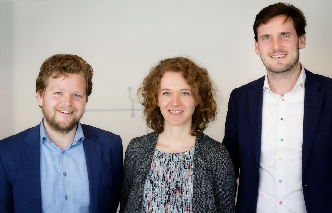 foto van de drie junior-raadsleden