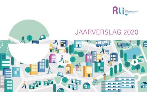 Kaft met illustratie van de sleutelfuncties van de stad - publieke voorzieningen, wonen en vervoer
