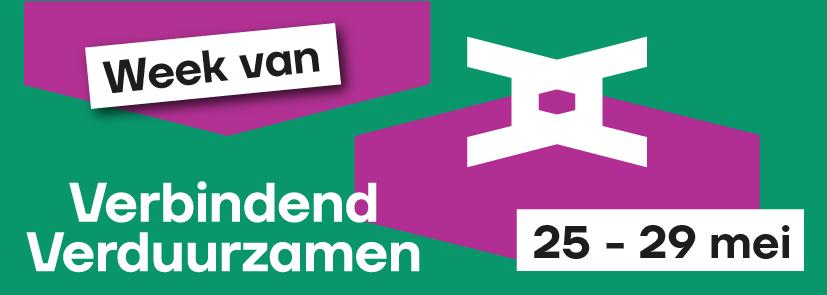 logo van de conferentie  met 2 V's door elkaar geschreven met datum en titel