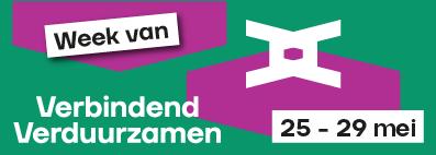 logo van de conferentie  met 2 V's door elkaar geschreven