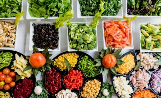 Foto van verschillende groenten