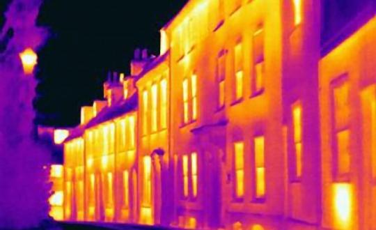 warmte foto van woningen