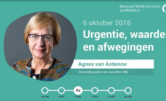 foto van de aankondiging met portret van Agnes van Ardenne
