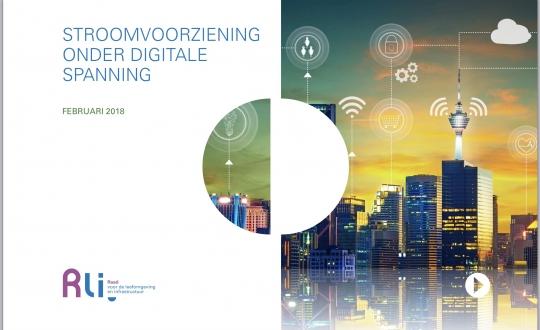 cover van advies met vermelding van de titel 'Stroomvoorziening onder digitale spanning'