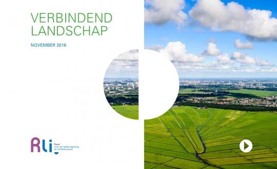 cover van het advies met foto van polderlandschap met stervormige verkaveling op de achtergrond Amsterdam