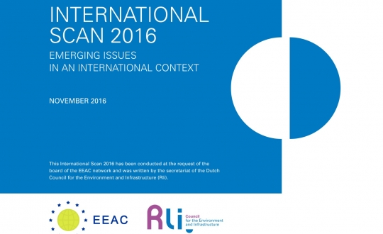 cover van de publicatie met titel International scan 2016, geen illustratie