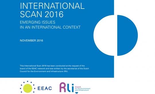 cover van de publicatie met titel International scan 2016, geen illustratie