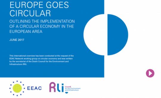 Cover met titel advies Europe goes circular
