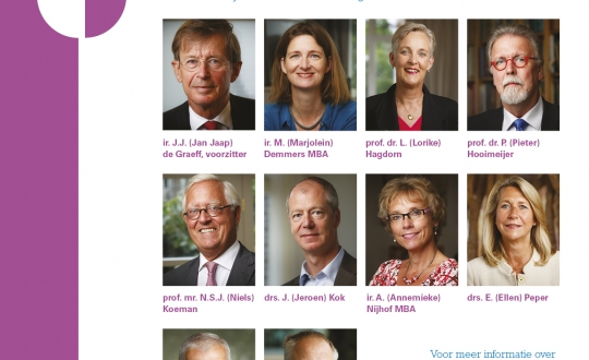 portretten van de tien raadsleden