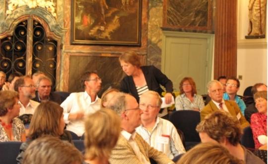 Foto deelnemers aan congres ruimtelijke kwaliteit in de regio