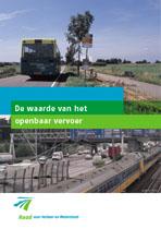 Omslagfoto advies de waarde van het openbaar vervoer